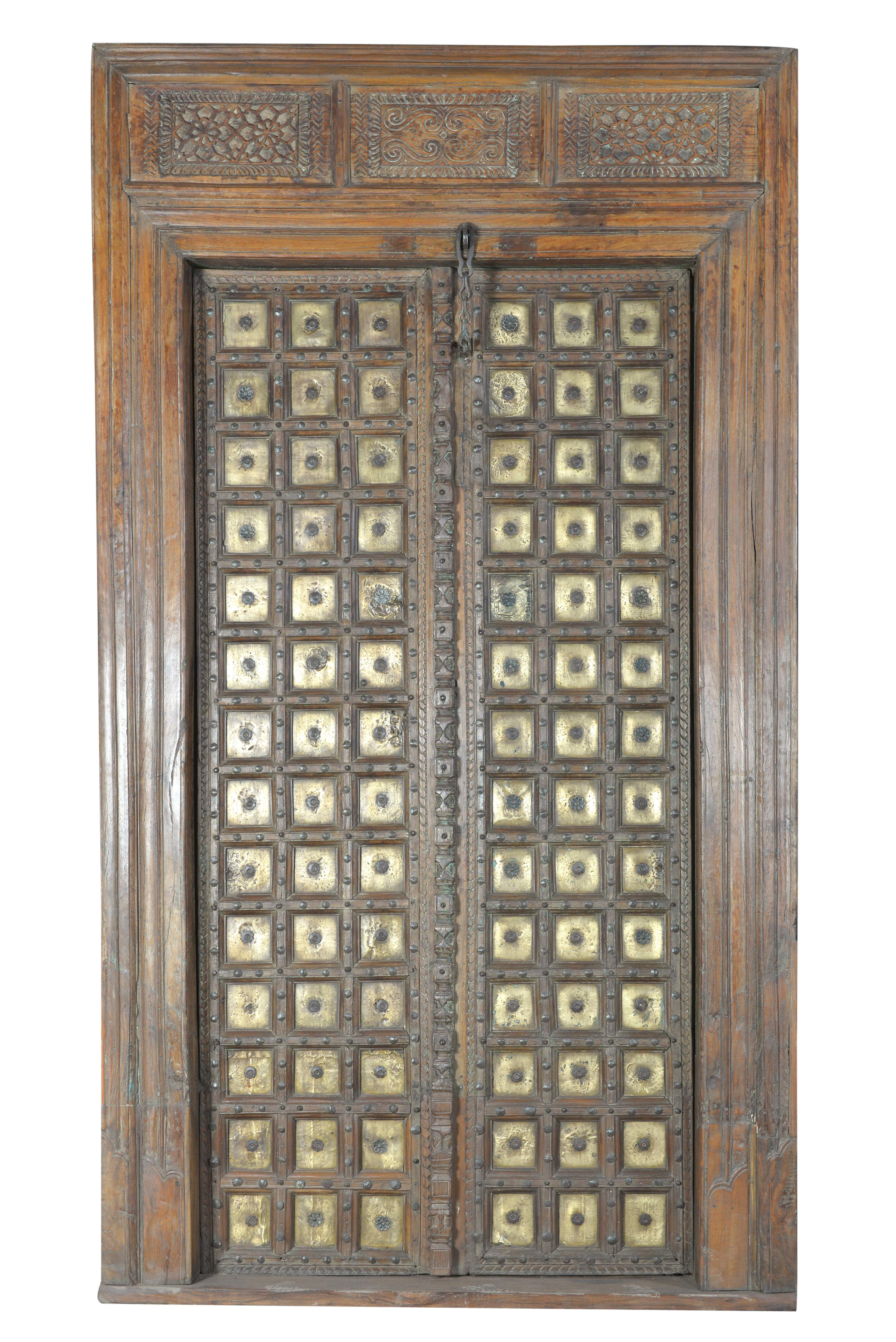 Puerta con marco Antigüedad: 80-90 años Origen: Rajastán Material ...