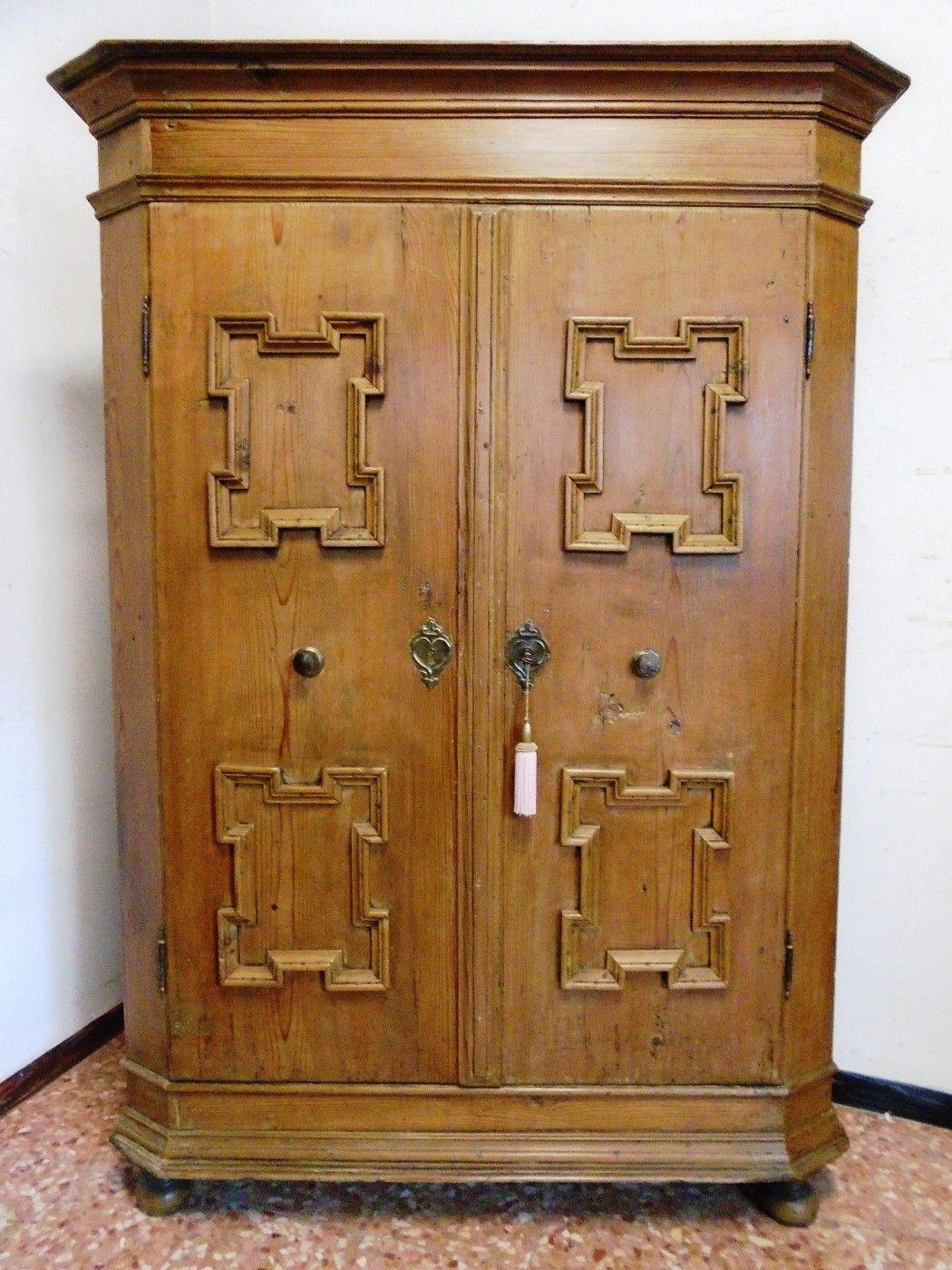 Armadio prov austria antichit evelina vendita mobili antichi tirolesi mobili antichi - Mobili antichi colorati ...