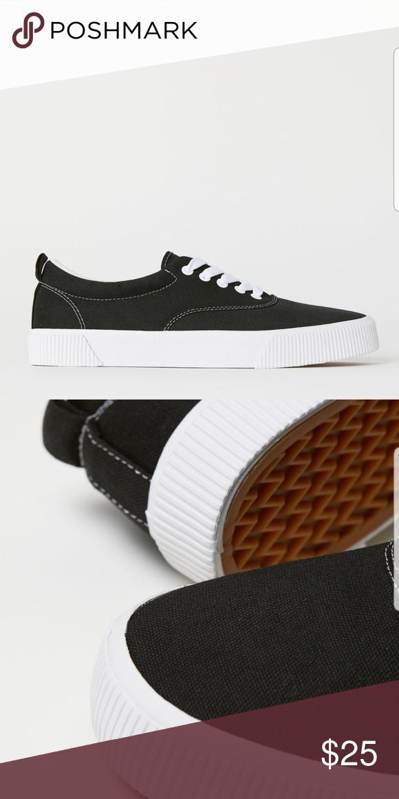 H\u0026M Canvas Sneakers | Canvas shoes, H\u0026m