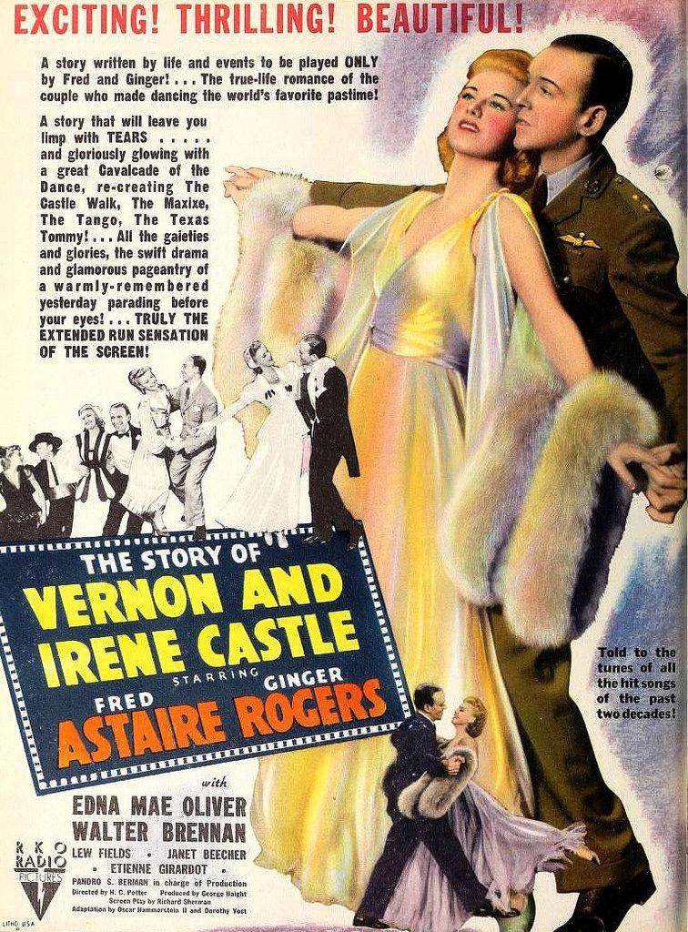 """Ginger Rogers e Fred Astaire em um filme sobre a história de um dançarino bem famoso de antigamente John Vernon > """"The Story of Vernon de 1939. Este também é um filme bem difícil de encontrar. Uma curiosidade> O bombom Sonho de Valsa leva um desenho de dois dançarinos, adivinha quem é? John Vernon"""