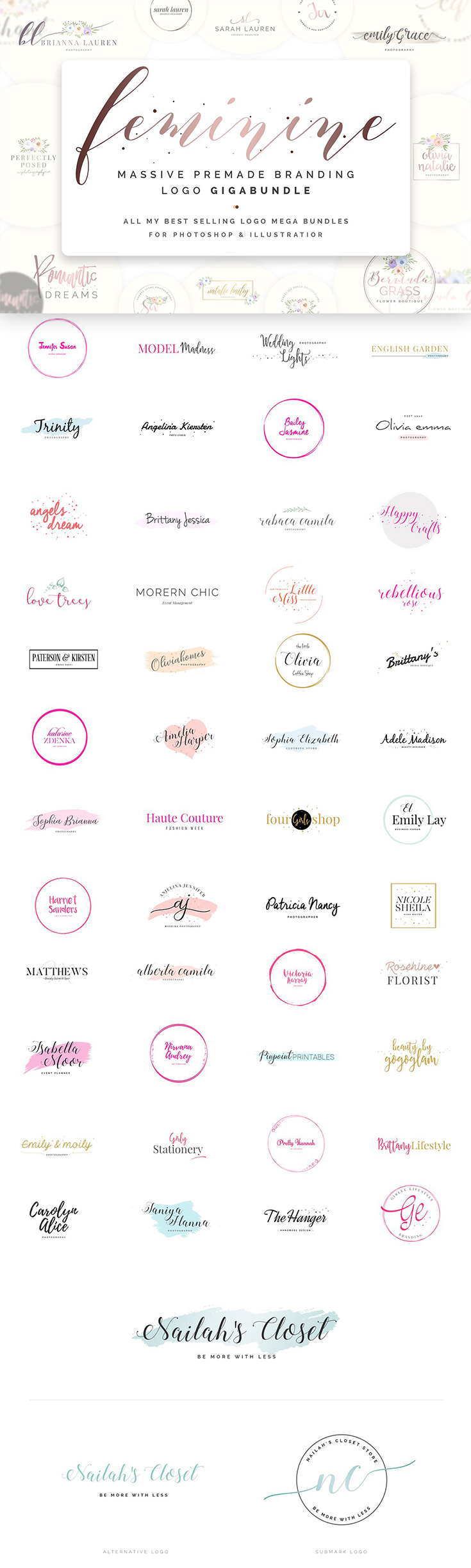 Worth Of Best Selling And Most Popular Premade Branding