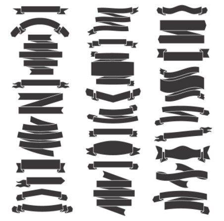 Free Dark Ribbon Set Vector Titanui Ribbon Design Black Ribbon Vector Free