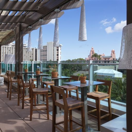 Buho Cocina Y Cantina Casual Dining Mexican Cuisine Waikiki Rooftop Restaurant Dining Bar Table