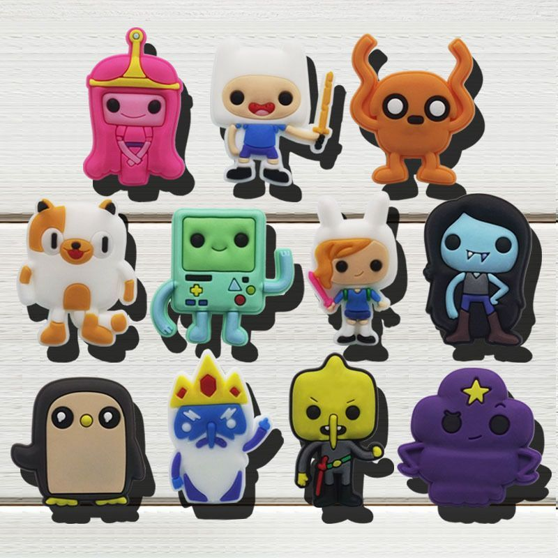Adventure Time Shoe Charms For Wristband,Shoe Shoe Decorate Kids School Gifts