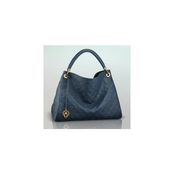 1bfbbd890543 eLuxury  M93448 Louis Vuitton Monogram Empreinte Artsy MM-Navy Cheap... via  Polyvore