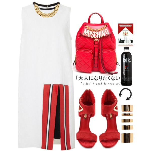 A fashion look from July 2014 featuring Tanya Taylor dresses, Casadei sandals and Moschino backpacks. Browse and shop related looks.