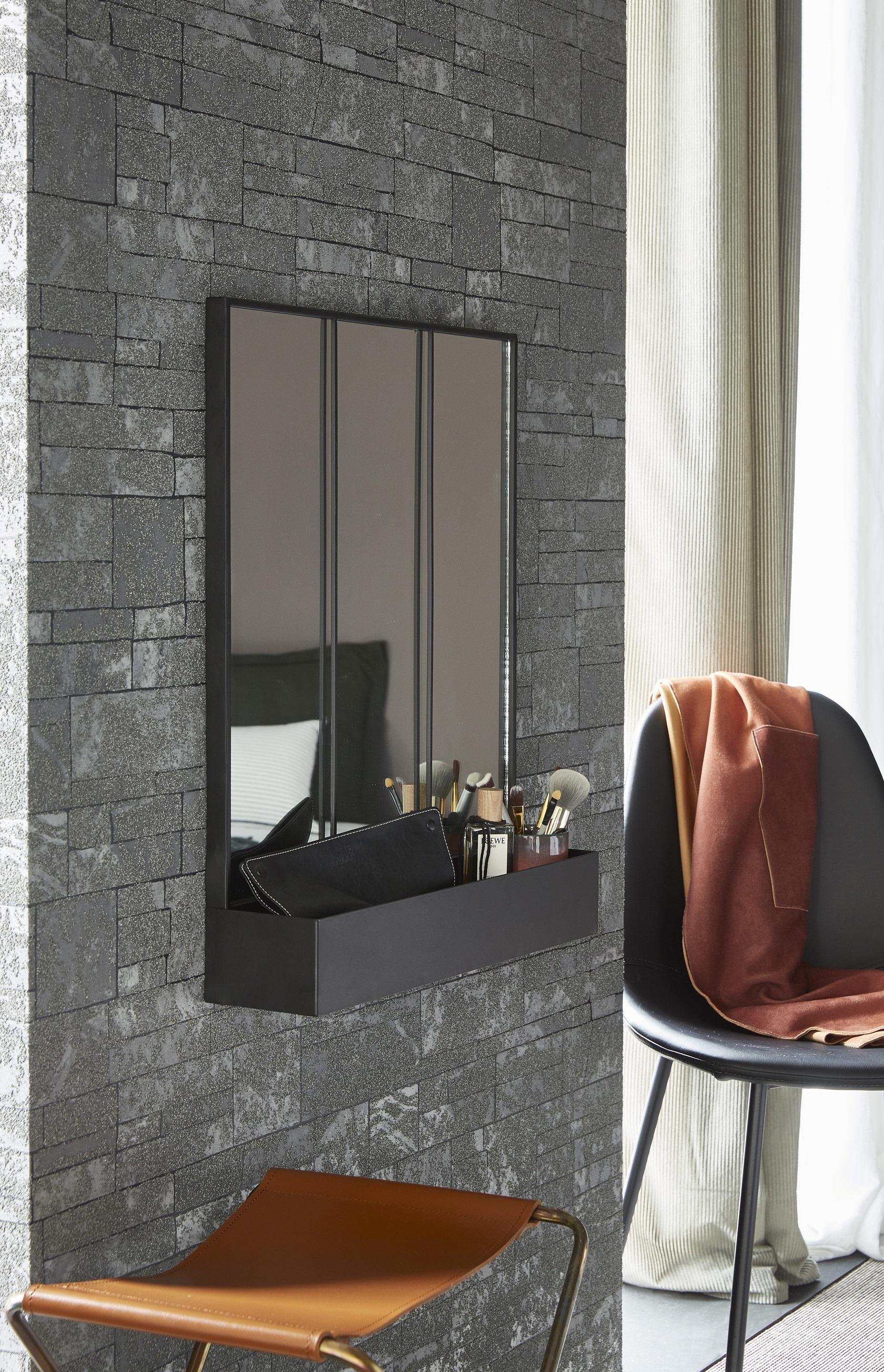 Miroir Rectangulaire Atelier Rangement Noir L 50 X H 60 Cm En 2020 Miroir Rectangulaire Rangement Noir Et Rangement