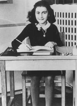 Anne Frank at 11 years of age, two years before going into hiding. Amsterdam, the Netherlands, 1940.