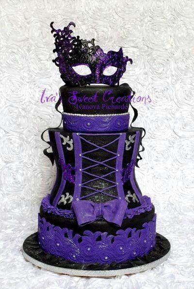 GORGEOUS #Gothic masquerade and burlesque CAKE
