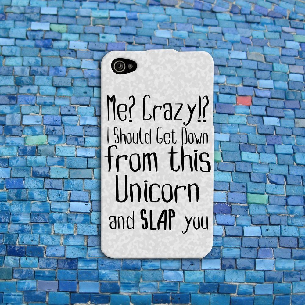 Cute Cover Photo Quotes: Funny Animal Unicorn Quote Case Cute Rubber IPod Cover