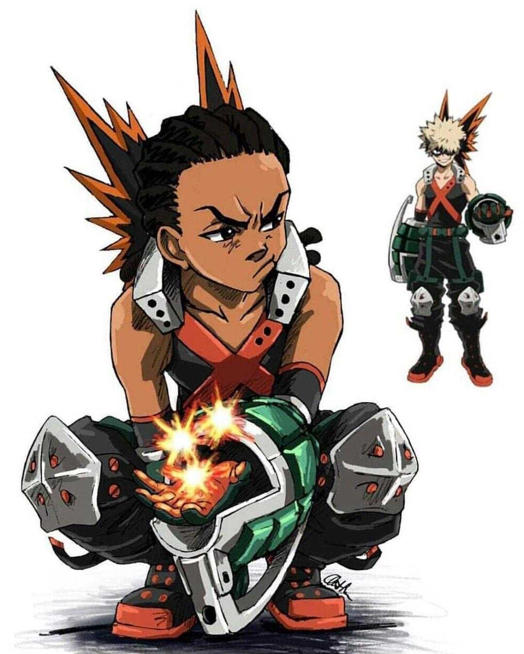My Hero Academia Boondocks Black Anime Characters Boy Art