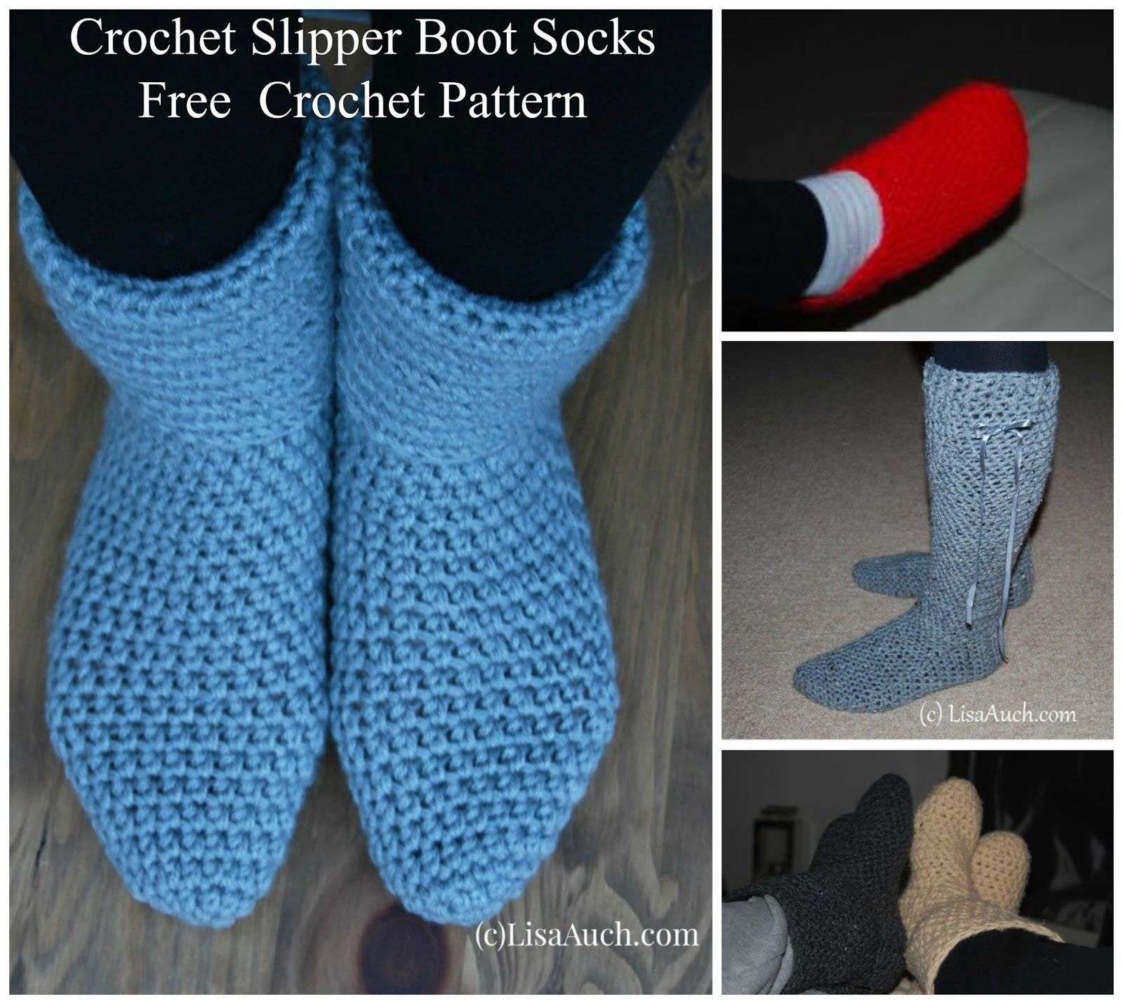 Easy free crochet slipper boot pattern free crochet slipper boot easy free crochet slipper boot pattern free crochet slipper boot pattern men woman bankloansurffo Image collections