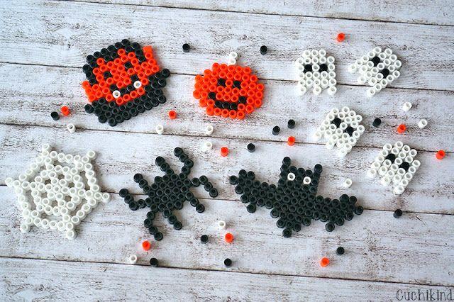 Halloween-Bügelperlen-DIY - Cuchikind #halloweencraftsforkids