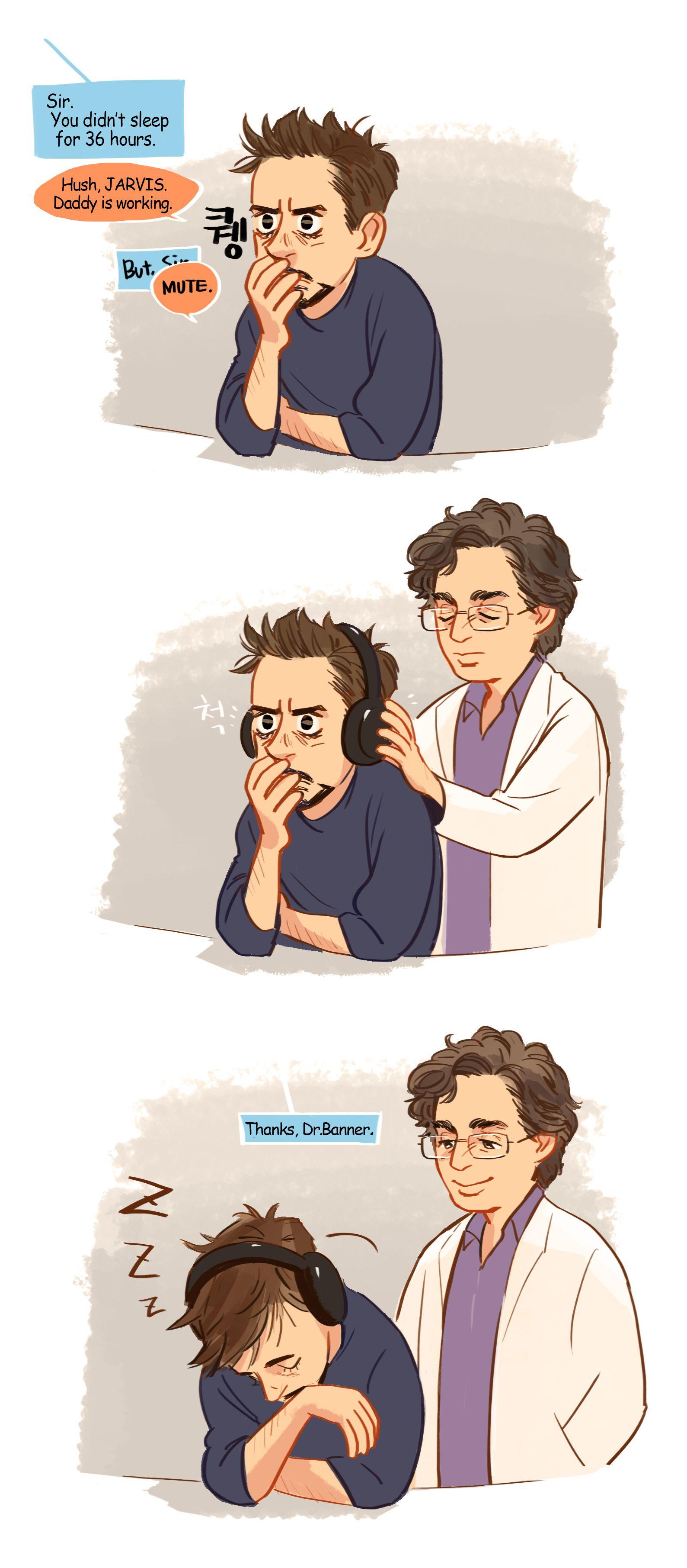 Go to sleep  ! by Hallpen | Loki        (and Avengers