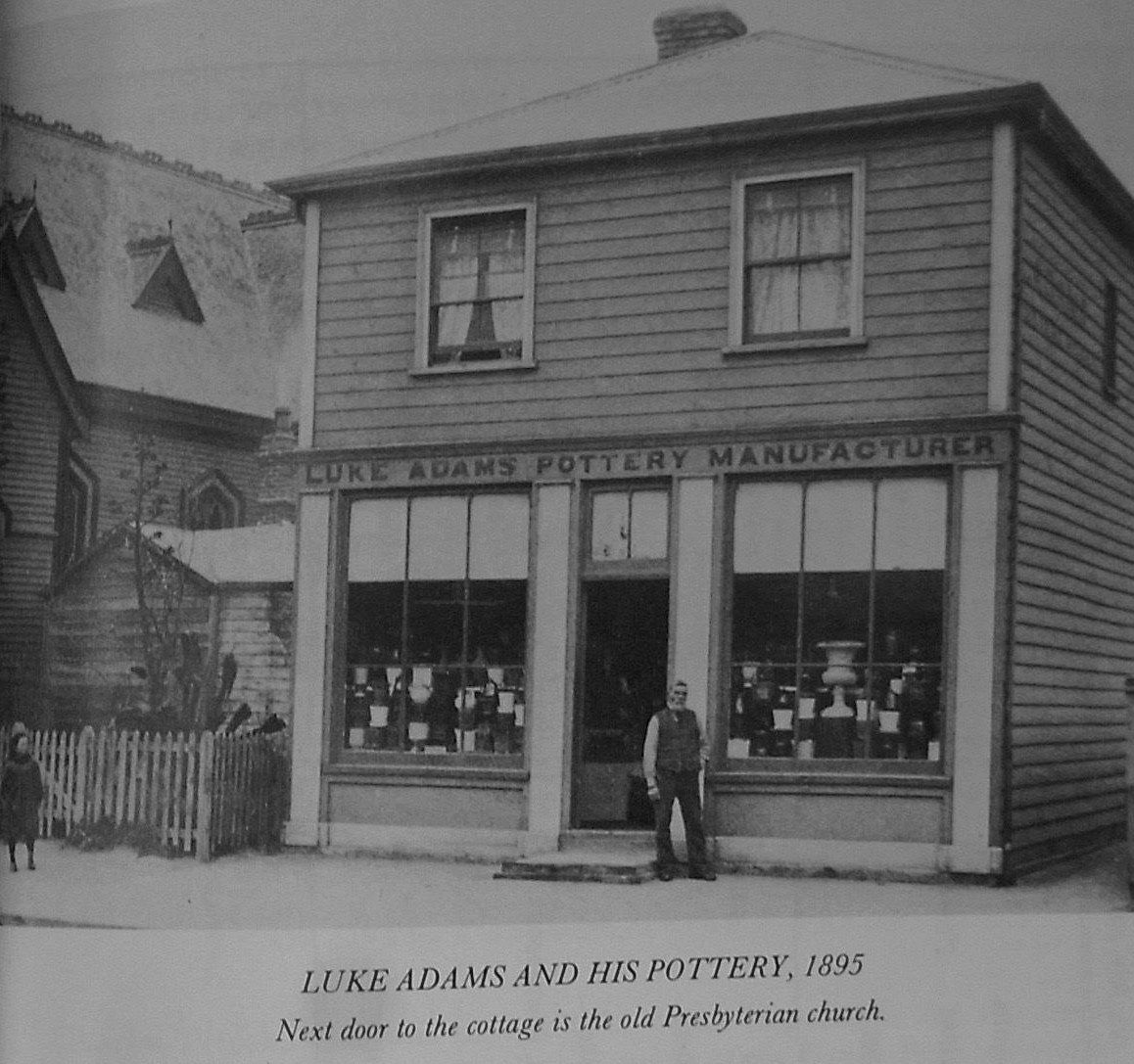 Luke Adams And His Pottery 1895 Next Door To His Cottage Is The