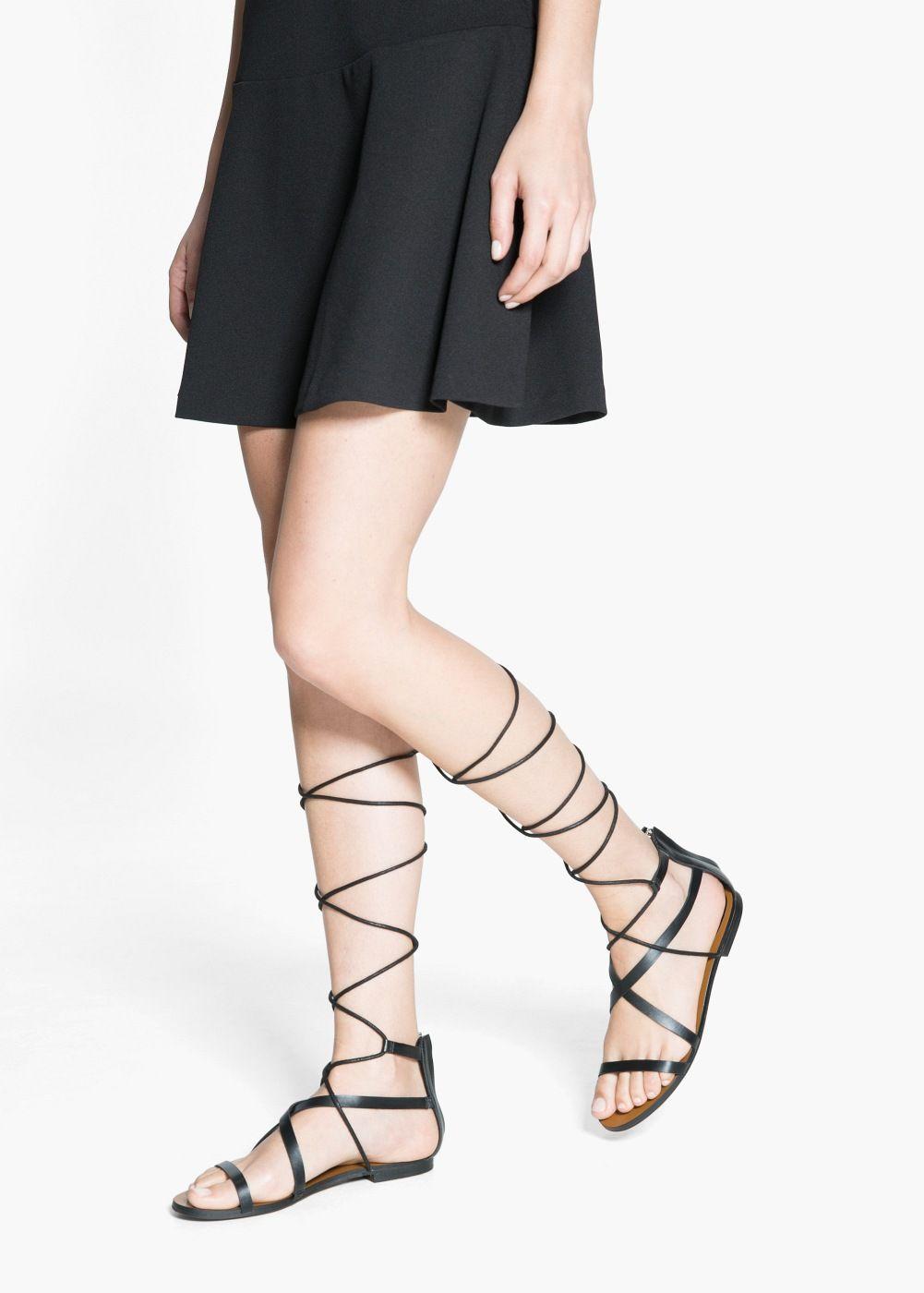 Strap cord sandals Women | Fashion, Stylish, Lace up sandals
