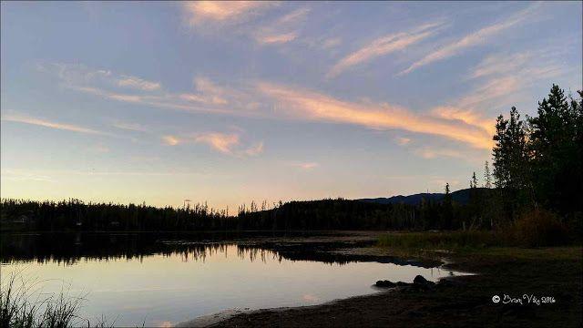 An Irrigation Lake sunset. Photos taken on August 24, 2016 in Houston, BC. Travel Houston, British Columbia with Brian Vike.