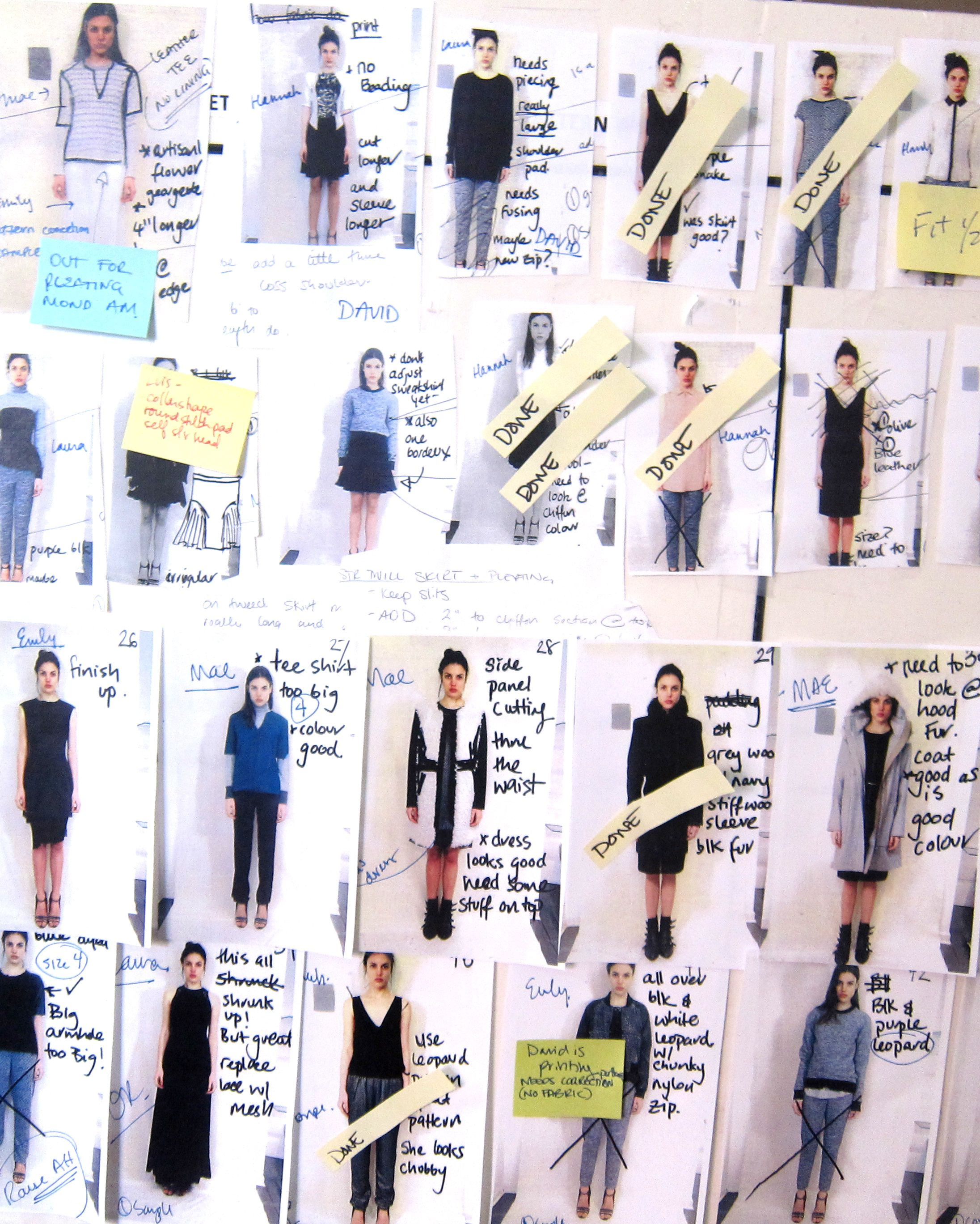 Model Fitting Board For The Fall 2013 Runway Show Fashion Process Fashion Design Template Models Photoshoot