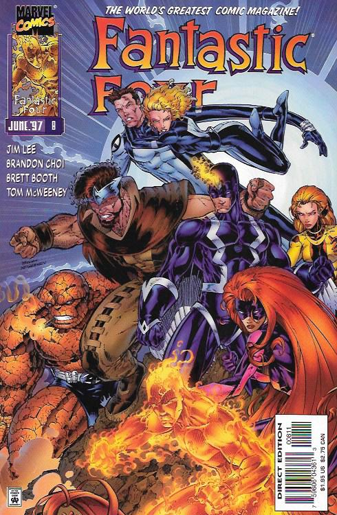 Fantastic Four No.2 Vol.2 1996 Namor The Sub-Mariner Jim Lee