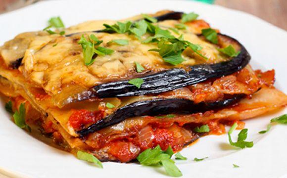 Receita de lasanha de berinjela com carne moída para a fase cruzeiro PL dukan.