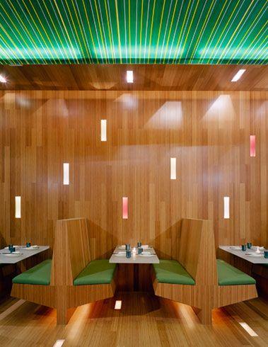 Bamboo Interior Wall Xing Restaurant New York Ltl Architects