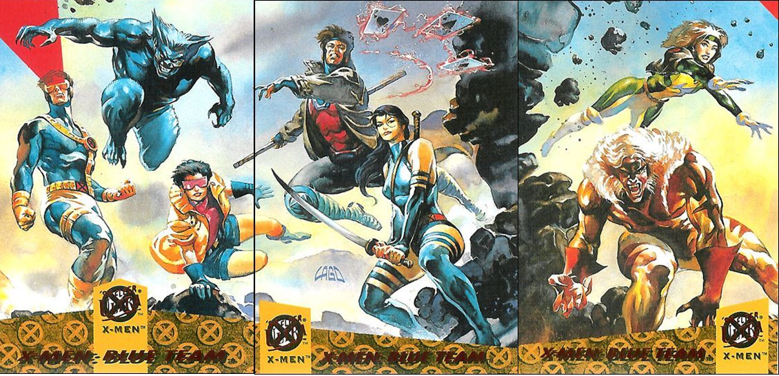 X Men Blue Team 94 Fleer Ultra X Men Cards By Lago Heroe