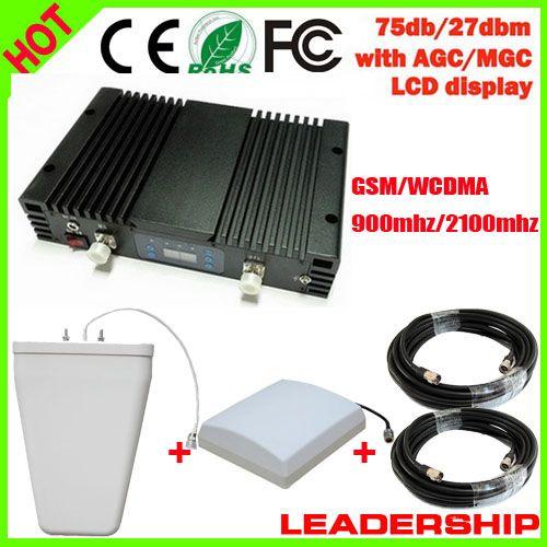 75db 27dbm GSM WCDMA 900mhz 2100mhz W-CDMA 3G 1W dual band