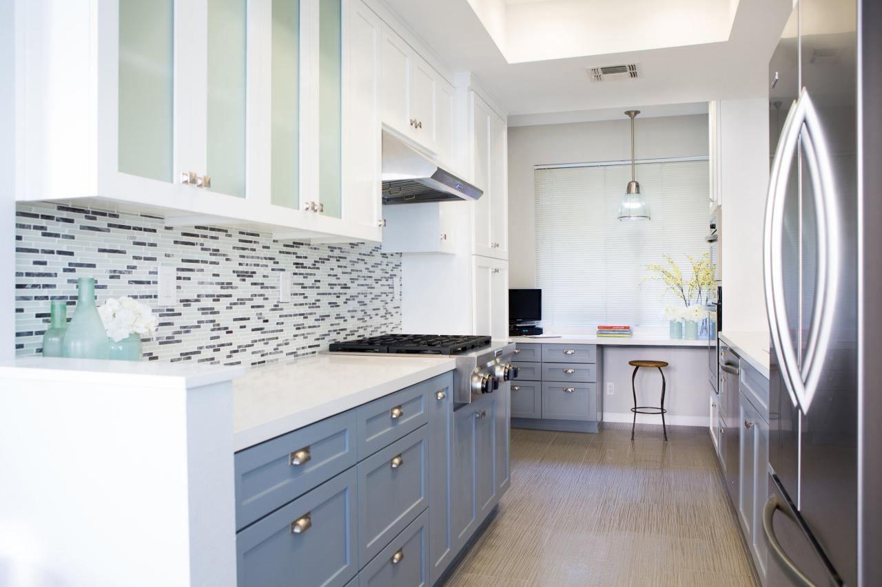 Küchenschränke blau  rühren zwei farbe küche schränke bilder bild inspirationen