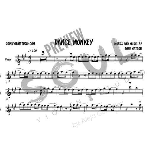 Dance Monkey Tones And I Violin Cover Music Sheet Soul Violin Studio In 2020 Sheet Music Violin Music Violin