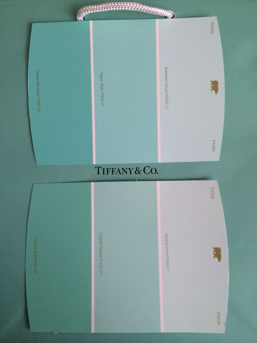 Tiffany Blue Behr paint color matches.