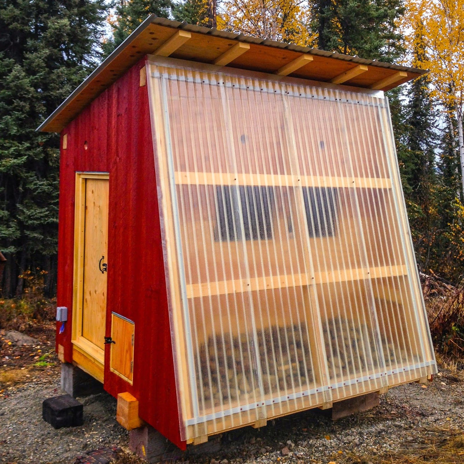Northern flux chicken coop e i e i o pinterest for Chicken and duck coop