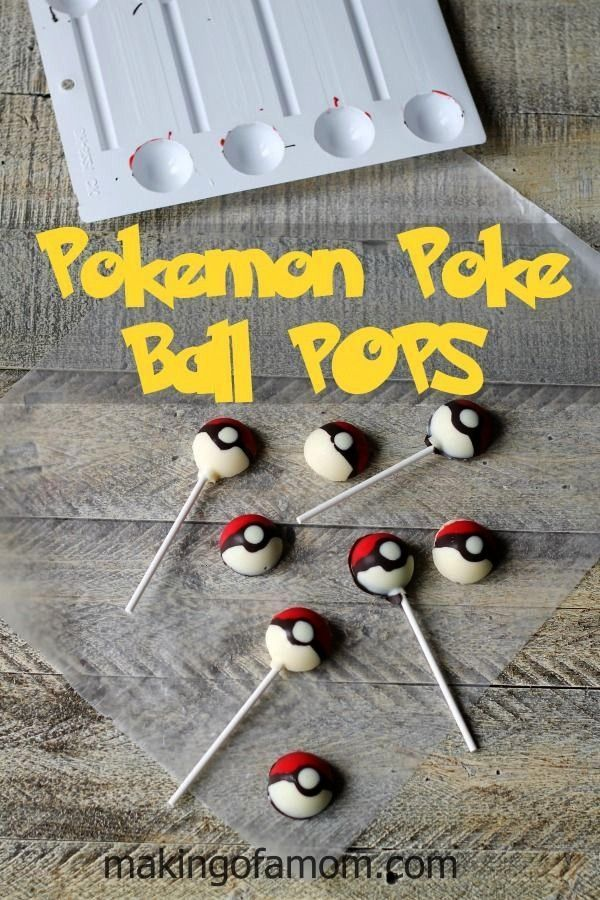 Poke Ball POPS  Making of a Mom Pokemon Poke Ball POPS  Making of a Mom  Southern Caramel Cake is always a favorite This version with Salted Caramel Buttercream Frosting...