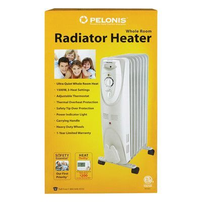 Pelonis 600 900 1500 Watts Portable Electric Radiant Radiator Heater Radiator Heater Heater Oil Filled Radiator