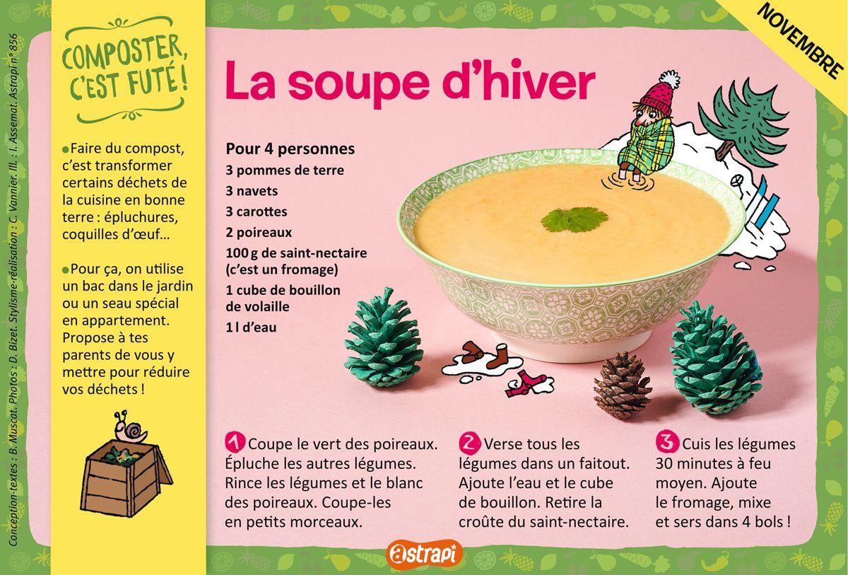 La soupe d hiver une recette pour les enfants de 7 11 - Recette de cuisine pour l hiver ...