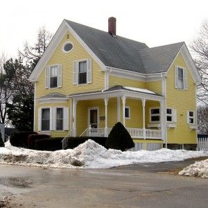 Yellow House White Trim Shutters So Simple