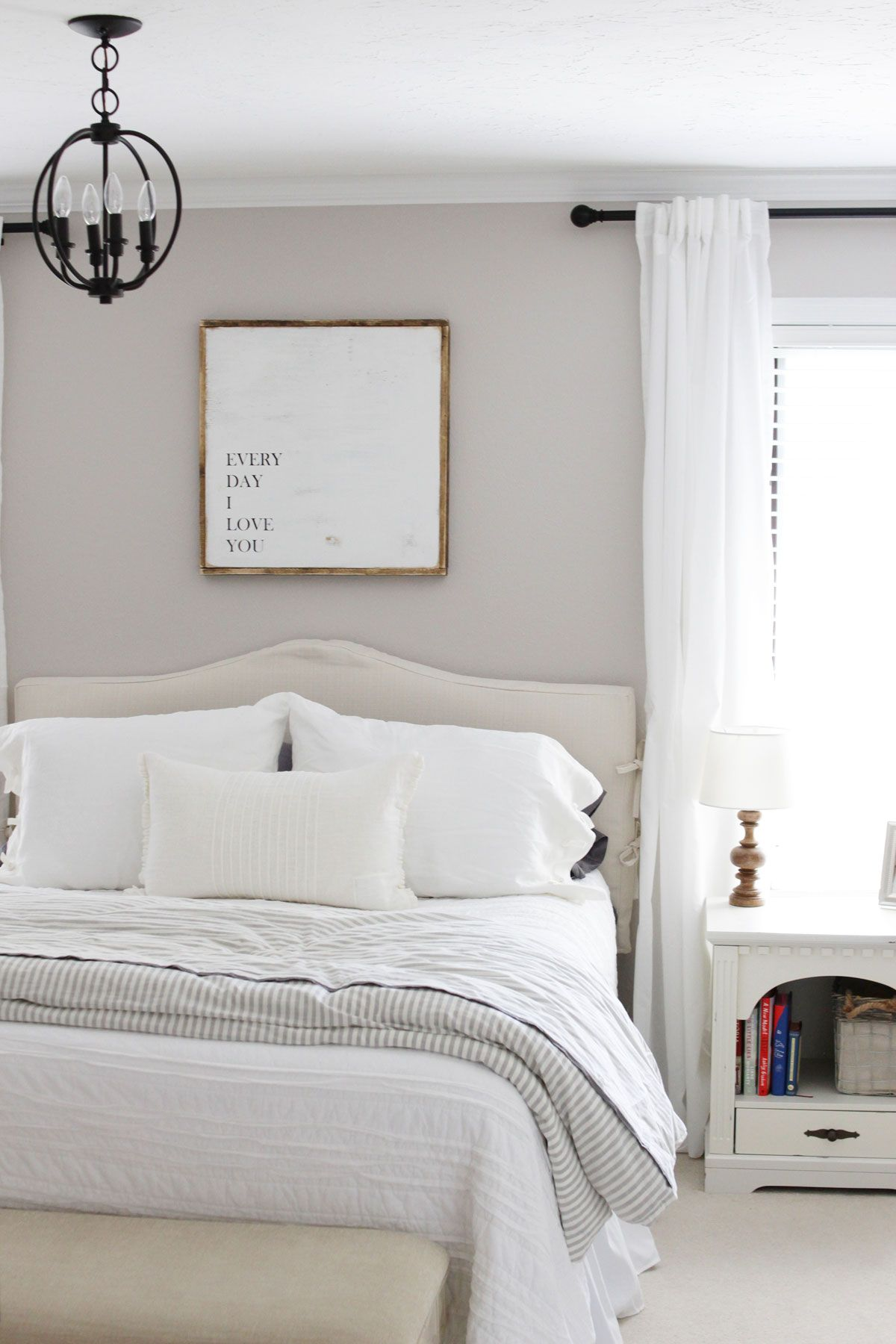 Modern Farmhouse Master Bedroom Reveal Farmhouse bedroom
