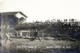 Blake Miller Makes 10 At U Of W Vs M A C Football Game 1913 In 2020 Michigan State University Michigan State Spartans Football Michigan State Football