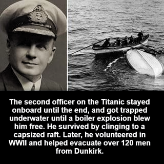 Photo of The second officer on the Titanic stayed onboard until the end, and got trapped …