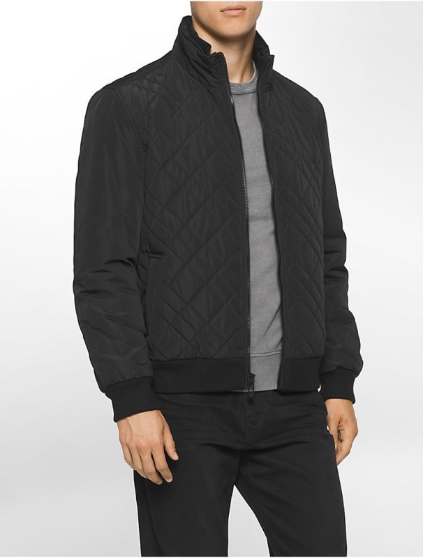 Calvin Klein Mens Quilted Bomber Jacket Quilted Bomber Jacket Jackets Bomber Jacket