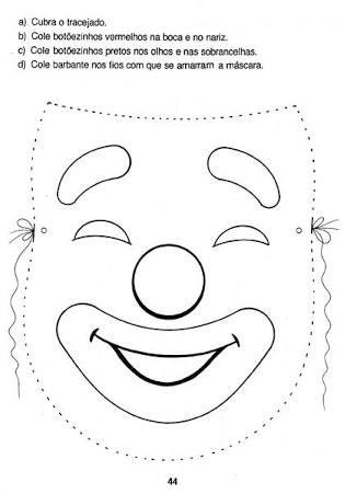 Resultado De Imagem Para Molde De Boca De Palhaco Mascara De