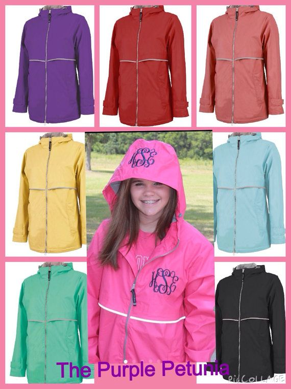 Hey, I found this really awesome Etsy listing at https://www.etsy.com/listing/198307628/monogrammed-rain-coat-jacket-womens