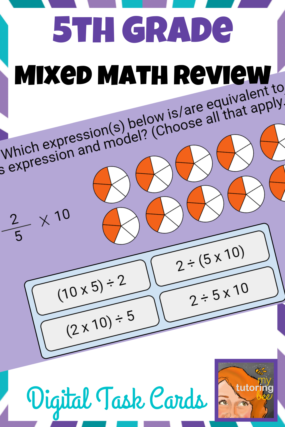 5th Grade Math Review Or Assessment Boom Cards Distance Learning 5th Grade Math Math Review Math Spiral Review [ 1500 x 1000 Pixel ]