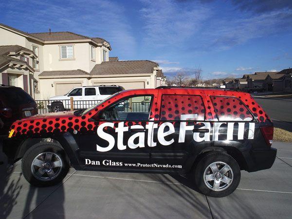 Custom Vehicle Wrap For State Farm Insurance Commercial Vehicle