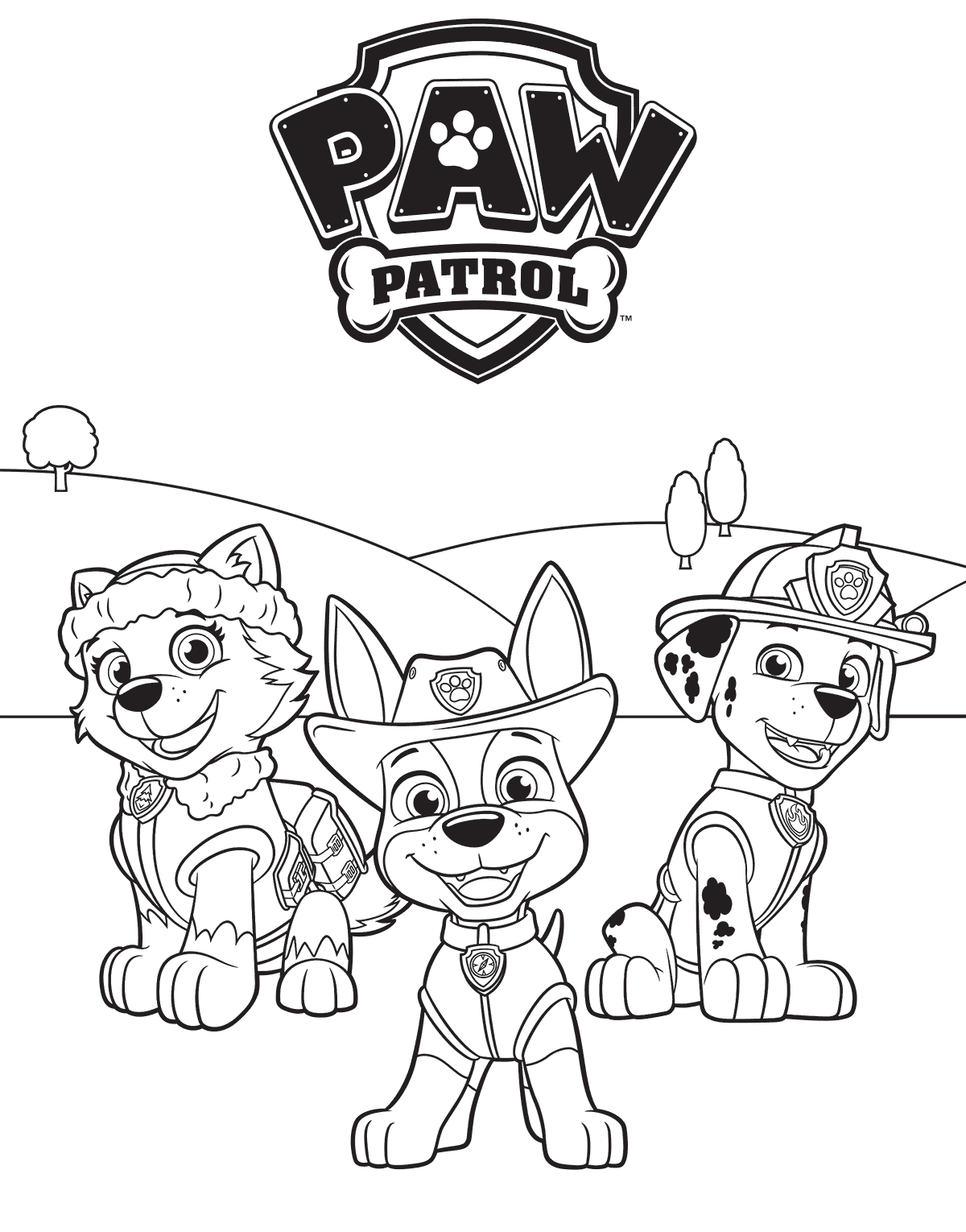 Coloring Paw Patrol Coloring