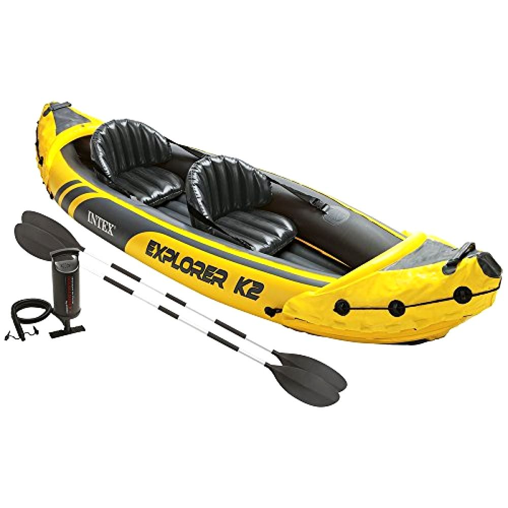 Intex Explorer K2 Kayak 2 Person Inflatable Kayak Set Aluminum