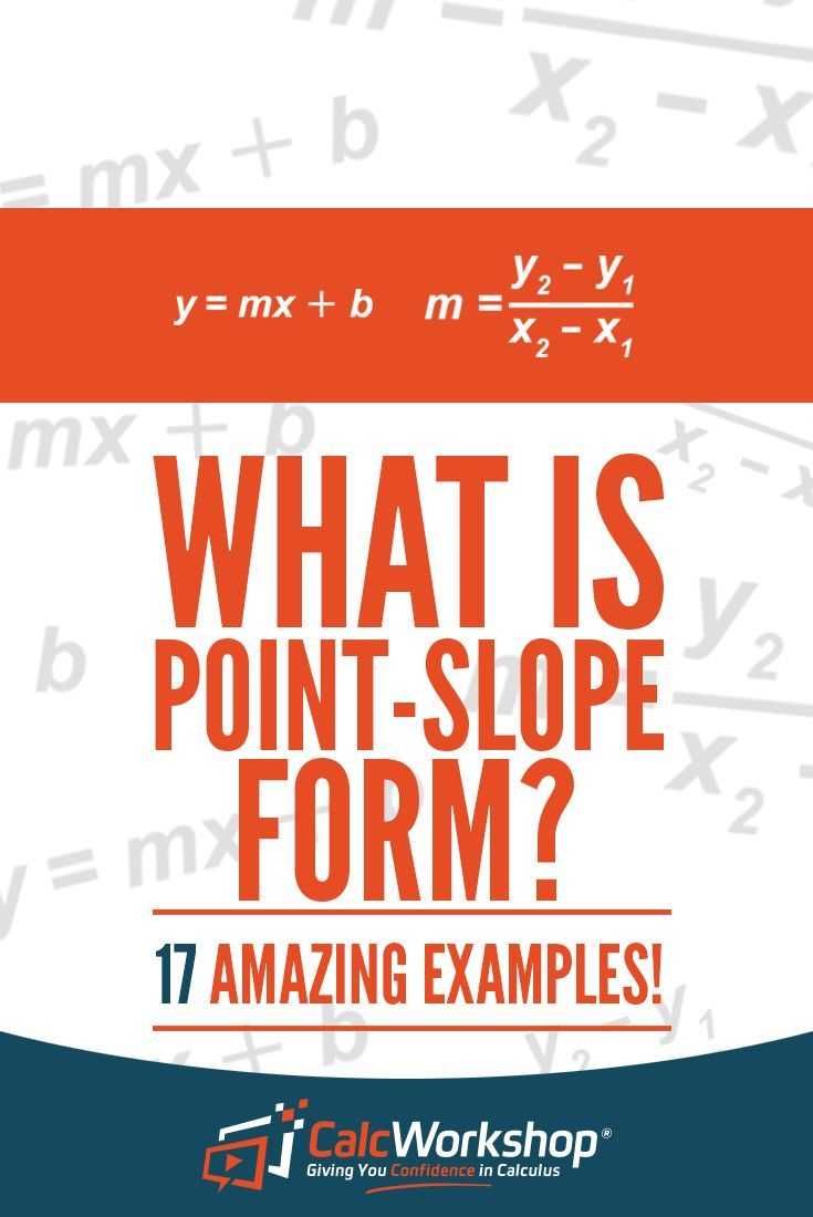 What Is Point Slope Form 17 Sure Fire Examples Standard Form