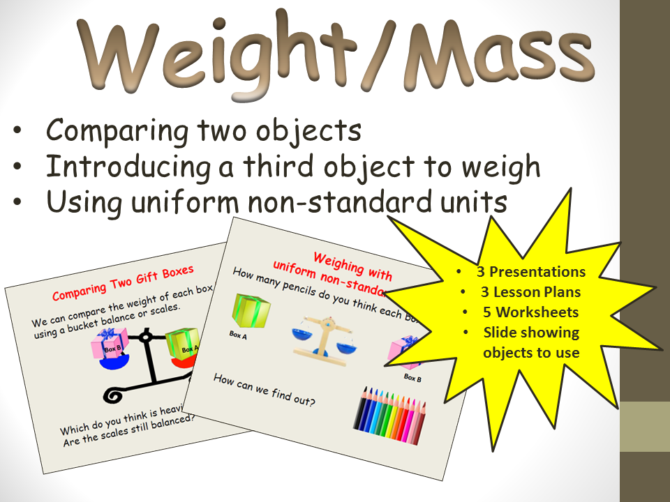 Weight/Mass Comparisons and Uniform Non-Standard