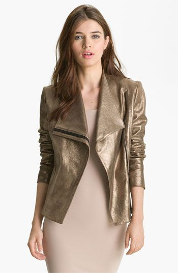 This is the one!!Robert Rodriguez Metallic Leather Jacket available at #Nordstrom