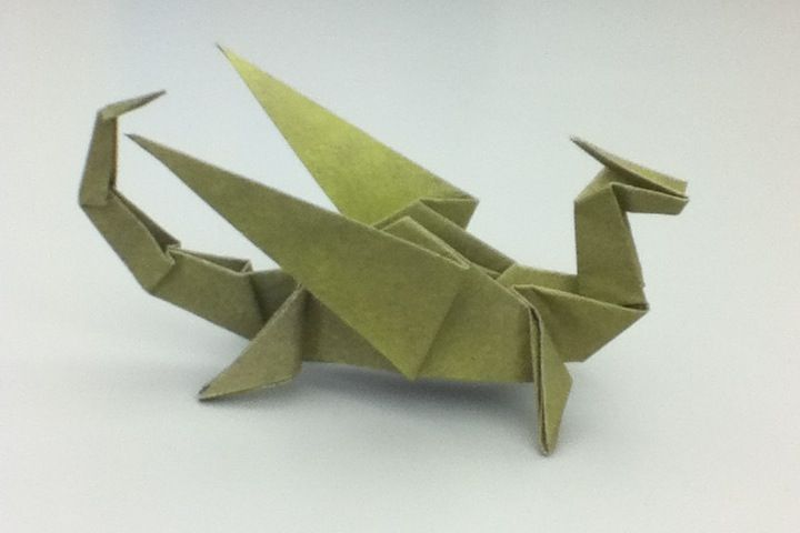 Origami Dragon (made by me)