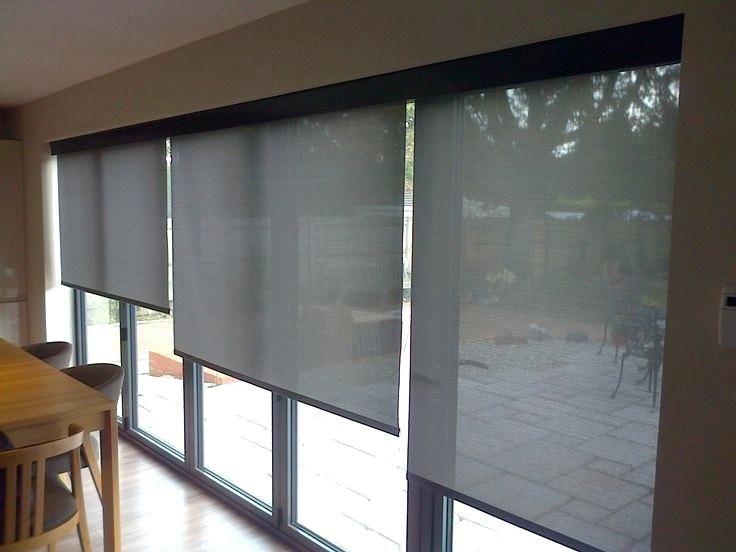 Electric Window Blinds Electric Window Shades Fresh Best Electric Blinds Images On Electric Blinds For Bifold Doors Sliding Door Window Treatments Door Blinds
